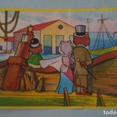 Colecionismo Cromos antigos: CROMO DE LA VUELTA AL MUNDO DE WILLY FOG DESPEGADO Nº 77 AÑO 1983 DEL ALBUM LA VUELTA.... DE DANONE. Lote 187589355
