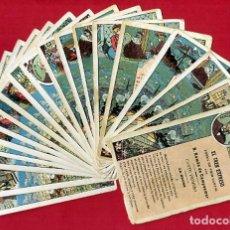 Coleccionismo Cromos antiguos: LOTE DE 19 CROMOS ANTIGUOS, EL TREN EXPRESO , CHOCOLATES AMATLLER , ORIGINALES , L3. Lote 141697282