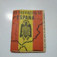 Coleccionismo Cromos antiguos: SOBRE DE CROMOS SIN ABRIR DE LAS PROVINCIAS DE ESPAÑA DE GIGARPE. TDKP13. Lote 141847794