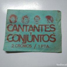 Coleccionismo Cromos antiguos: SOBRE DE CROMOS CANTANTES Y CONJUNTOS. EDICIONES ESTE 1967. SIN ABRIR. TDKP13. Lote 141848082