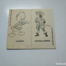 Coleccionismo Cromos antiguos: CROMO CARTON JUANITO CAPITAN GARFIO. WALT DISNEY. TDKP13. Lote 141850962
