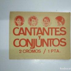 Coleccionismo Cromos antiguos: SOBRE DE CROMOS CANTANTES Y CONJUNTOS. EDICIONES ESTE 1967. SIN ABRIR. TDKP13. Lote 143931021