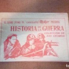 Coleccionismo Cromos antiguos: SOBRE SIN ABRIR HISTORIA DE LA GUERRA CHOCOLATES MOHER. Lote 152499693