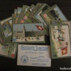Coleccionismo Cromos antiguos: CORREOS UNIVERSALES-COLECCION COMPLETA 50 CROMOS-CHOCOLATES JUNCOSA-VER FOTOS-(V-15.475). Lote 143178942