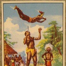 Coleccionismo Cromos antiguos: CROMO ALBUM Nº 2 A TRAVES DE AFRICA DE CHOCOLATES BATANGA SERIE IV NUMERO 9 (NUNCA PEGADO). Lote 143530250