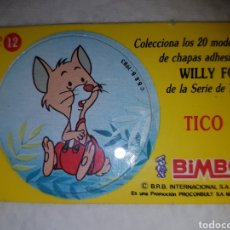 Coleccionismo Cromos antiguos: WILLY FOG TICO BIMBO 1983. Lote 144045645