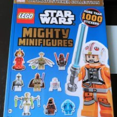 Coleccionismo Cromos antiguos: ÁLBUM CROMOS STAR WARS LEGO MIGHTY MINIFIGURES 1000 PEGATINAS. Lote 144168462