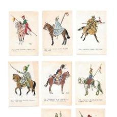 Coleccionismo Cromos antiguos: IÑI LOTE 8 CROMOS. CABALLERÍA. RUIZ ROMERO.1965. GAMMA.. Lote 144651414