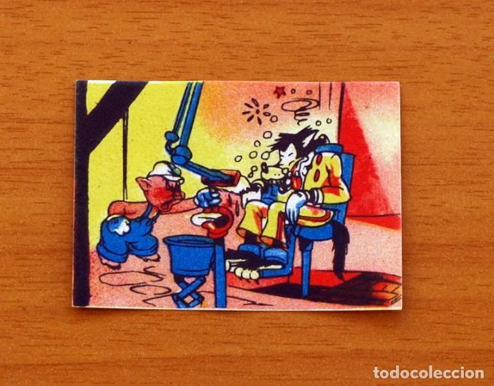 LOS TRES CERDITOS Y CAPERUCITA ROJA CONTRA EL LOBO FEROZ -CROMO, Nº 183 - BRUGUERA 1945-NUNCA PEGADO (Coleccionismo - Cromos y Álbumes - Cromos Antiguos)
