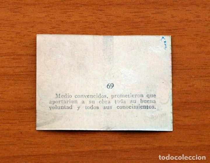 Coleccionismo Cromos antiguos: Los Tres Cerditos y Caperucita Roja contra el Lobo Feroz - Cromo, nº 69 - Bruguera 1945 - Foto 2 - 146120618
