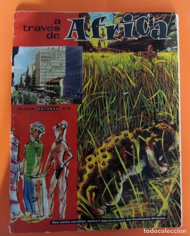LOTE DE CROMOS. CROMOS SUELTOS; 0,70 €. A TRAVÉS DE ÁFRICA. ÁLBUM BATANGA Nº 2. CHOCOLATES BATANGA. (Coleccionismo - Cromos y Álbumes - Cromos Antiguos)