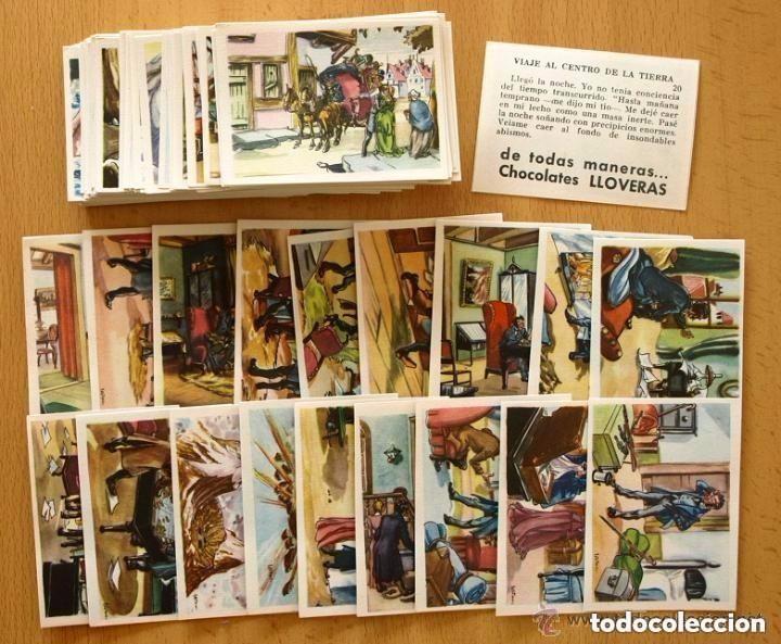 VIAJE AL CENTRO DE LA TIERRA - COMPLETA 162 CROMOS NUEVOS - CHOCOLATE LLOVERAS 1958 (Coleccionismo - Cromos y Álbumes - Cromos Antiguos)