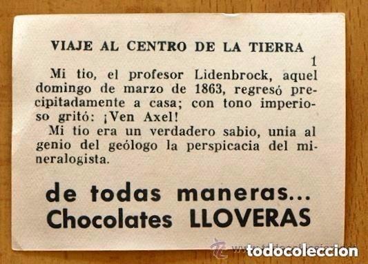 Coleccionismo Cromos antiguos: Viaje al centro de la tierra - Completa 162 cromos nuevos - Chocolate LLoveras 1958 - Foto 3 - 147066386