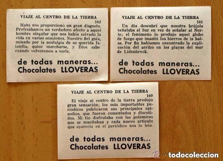 Coleccionismo Cromos antiguos: Viaje al centro de la tierra - Completa 162 cromos nuevos - Chocolate LLoveras 1958 - Foto 7 - 147066386