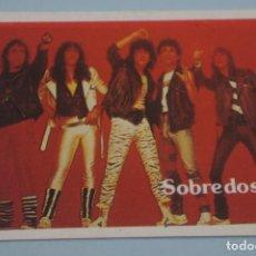 Collectionnisme Cartes à collectionner anciennes: CROMO DE SOBREDOSIS SIN PEGAR Nº 55 AÑO 1984 DEL ALBUM SUPER MUSICAL DE EYDER. Lote 155730041