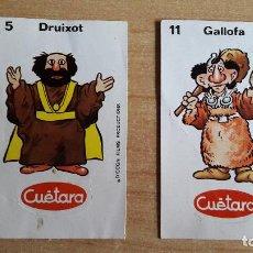 Coleccionismo Cromos antiguos: LOTE 2 CROMOS CUETARA AURONES - VER FOTO ADICIONAL. Lote 147146950