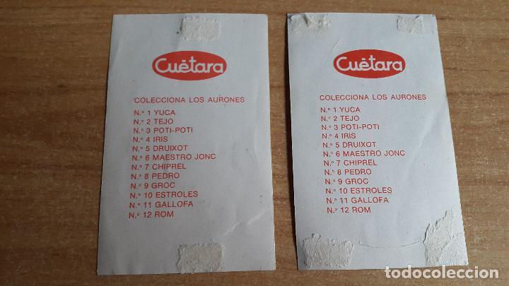 Coleccionismo Cromos antiguos: LOTE 2 CROMOS CUETARA AURONES - VER FOTO ADICIONAL - Foto 2 - 147146950