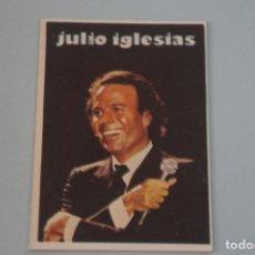 Collectionnisme Cartes à collectionner anciennes: CROMO DE JULIO IGLESIAS SIN PEGAR Nº 120 AÑO 1984 DEL ALBUM SUPER MUSICAL DE EYDER. Lote 197429363