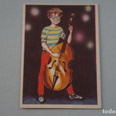Collectionnisme Cartes à collectionner anciennes: CROMO DE CONTRABAJO SIN PEGAR Nº 186 AÑO 1984 DEL ALBUM SUPER MUSICAL DE EYDER. Lote 177962382