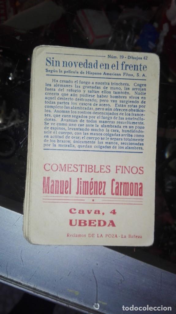 Coleccionismo Cromos antiguos: 18 CROMOS SIN NOVEDAD EN EL FRENTE UBEDA - Foto 2 - 147302958