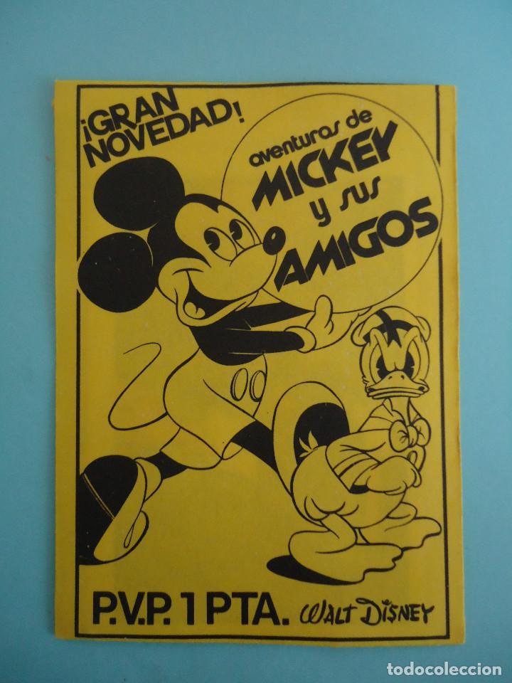 SOBRE DE CROMOS SIN ABRIR AVENTURAS DE MICKEY Y SUS AMIGOS (Coleccionismo - Cromos y Álbumes - Cromos Antiguos)