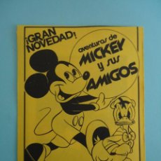 Coleccionismo Cromos antiguos: SOBRE DE CROMOS SIN ABRIR AVENTURAS DE MICKEY Y SUS AMIGOS. Lote 206840952