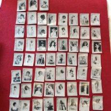 Colecionismo Cromos antigos: 75 FOTOTIPIA CAJA DE CERILLAS, ARTISTAS Y CUPLETISTAS SERIE 7. SAMSOT Y MISSE. COMPLETA.. Lote 147574917
