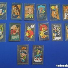 Collectable Antique Stickers - lote de cromos pegatinas tela vaquera años 80 lucky luke Matutano no bollycao panrico cropan leer - 147584526