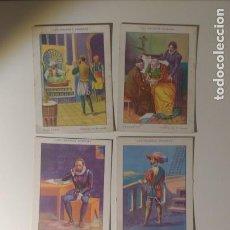Coleccionismo Cromos antiguos: 5 CROMOS CHOCOLATES AMATLLER CHOCOLATE MIGUEL DE CERVANTES LOS GRANDES HOMBRES. Lote 147755846