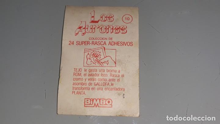 Coleccionismo Cromos antiguos: BIMBO : ANTIGUO CROMO Nº 10 DE LOS AURONES AÑOS 80 SIN PEGAR - Foto 3 - 147991202