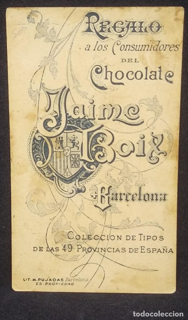 Palencia Colección de tipos de las 49 provincias de España. Chocolate Jaime Boix 12 x 7 cm. - 147991418