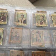 Coleccionismo Cromos antiguos: 65 CROMOS SERIE 20 PINTORES TODOS DIFERENTES. Lote 148448028