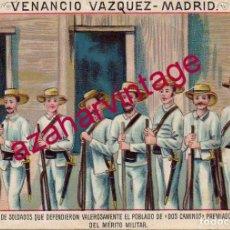 Coleccionismo Cromos antiguos: CROMO DE LA GUERRA DE CUBA DE CHOCOLATES VENANCIO VAZQUEZ - MADRID. Lote 148486994