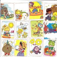 Coleccionismo Cromos antiguos: LOTE 14 CROMOS RAINBOW BRITE. PANINI 1986 PEGATINAS SIN PEGAR. Lote 148603946