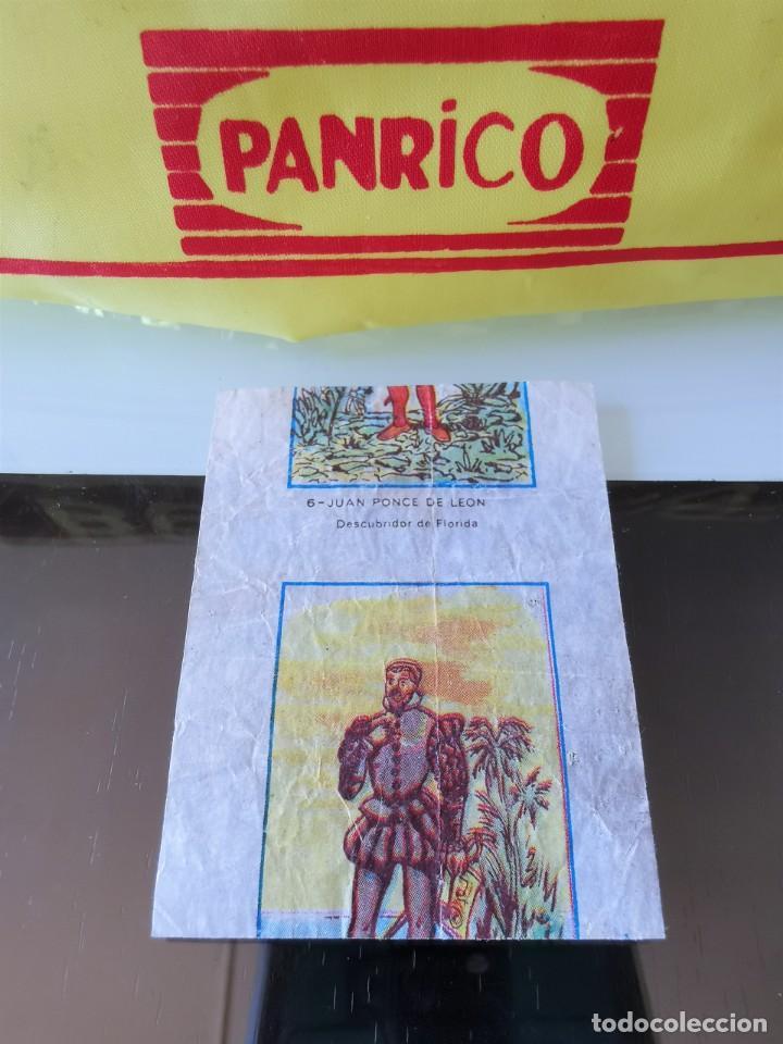 CROMO CHICLE ENVOLTORIO DESCUBRIDORES NO PANRICO PHOSKITOS CROPAN (Coleccionismo - Cromos y Álbumes - Cromos Antiguos)