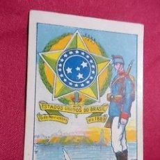 Colecionismo Cromos antigos: ESCUDOS UNIFORMES Y EDIFICIOS NACIONALES. CROMO Nº 7. BRASIL. CHOCOLATES RIUCORD. Lote 149753870