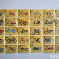 Coleccionismo Cromos antiguos: 30 CROMOS MOTOS SERIE COMPLETA CERILLAS LUCIFERS VLINDER ANTIGUOS. Lote 190038017