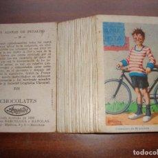 Coleccionismo Cromos antiguos: COLECCION COMPLETA LAS AZAÑAS DE PEDALITO. CHOCOLATES AMATLLER. 36 CROMOS. Lote 150808246