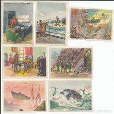 Coleccionismo Cromos antiguos: LOTE 7 CROMOS *VEINTE MIL LEGUAS DE VIAJE SUBMARINO*. Lote 151300738