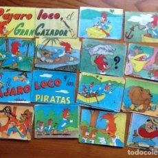 Coleccionismo Cromos antiguos: ALEGRES HISTORIETAS DEL PÁJARO LOCO, LOTE DE 180 CROMOS, FALTAN 20 PARA COMPLETA. Lote 151448766