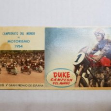 Coleccionismo Cromos antiguos: CROMO CHOCOLATES BATANGA V-4 DUKE. Lote 152202378