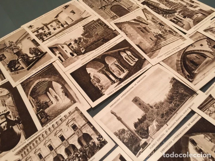 Coleccionismo Cromos antiguos: 19 cromos de colección antiguos Serie Pueblo Español - Foto 3 - 152569872