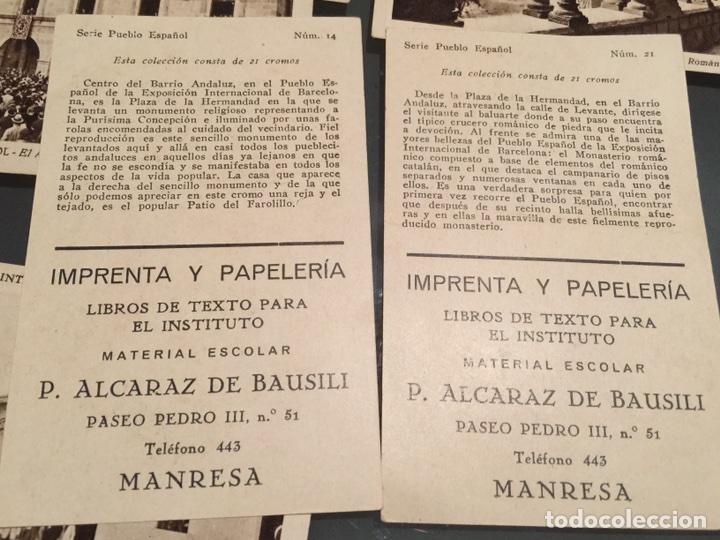 Coleccionismo Cromos antiguos: 19 cromos de colección antiguos Serie Pueblo Español - Foto 4 - 152569872