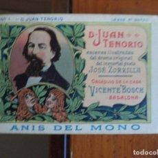 Coleccionismo Cromos antiguos: D.JUAN TENORIO COLECCION 24 CROMOS COMPLETA ANIS DEL MONO. Lote 152760894