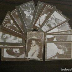Coleccionismo Cromos antiguos: ARTISTAS CINEMATOGRAFICOS-COLECCION COMPLETA 32 CROMOS-VER FOTOS-(V-16.012). Lote 153382126