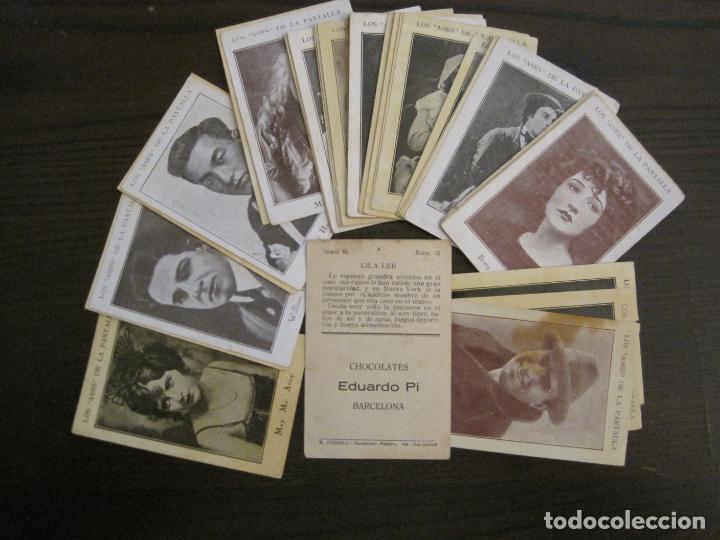 LOS ASES DE LA PANTALLA-COLECCION COMPLETA 32 CROMOS-CHOCOLATE EDUARDO PI-VER FOTOS-(V-16.016) (Coleccionismo - Cromos y Álbumes - Cromos Antiguos)