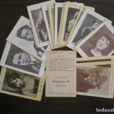 Coleccionismo Cromos antiguos: LOS ASES DE LA PANTALLA-COLECCION COMPLETA 32 CROMOS-CHOCOLATE EDUARDO PI-VER FOTOS-(V-16.016). Lote 153384410