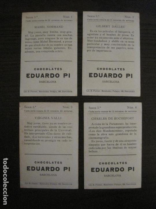Coleccionismo Cromos antiguos: ARTISTAS DE CINE-COLECCION COMPLETA 21 CROMOS-CHOCOLATES EDUARDO PI-VER FOTOS-(V-16.021) - Foto 4 - 153693834