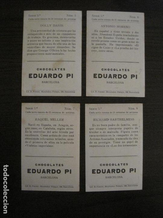 Coleccionismo Cromos antiguos: ARTISTAS DE CINE-COLECCION COMPLETA 21 CROMOS-CHOCOLATES EDUARDO PI-VER FOTOS-(V-16.021) - Foto 6 - 153693834