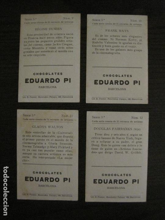 Coleccionismo Cromos antiguos: ARTISTAS DE CINE-COLECCION COMPLETA 21 CROMOS-CHOCOLATES EDUARDO PI-VER FOTOS-(V-16.021) - Foto 8 - 153693834